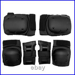 12pcs Skate Bike Cycling Elbow Knee Wrist Protective Guard Safety Pads Gear M+L