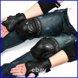 6pcs/set Cycling Skating Protective Gear Pads Knee Elbow Pads Wrist Guards