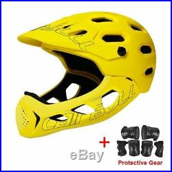 Extreme Sports DH AM MTB Bicycle Helmet with Removable Chin Bar & Protective Gea