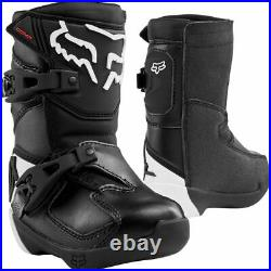 Fox PeeWee Childrens Toddler Comp K Boots Quad Motocross Cycle Bike Size Uk 10