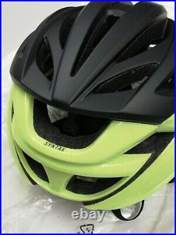 Giro Syntax Bike Safety Helmet Hi Vis YellowithBlack Bicycle Protective Gear M