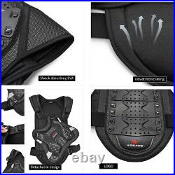 MTB Mountain Bike Chest Protector Armoured Vest Cycling Knee Elbow Pads Guard