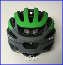 Small Bell Z20 Green Gray Rally Cycling MIPS Road Bike Helmet Size S